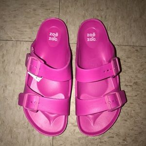 Shoes - Brand new pink slides